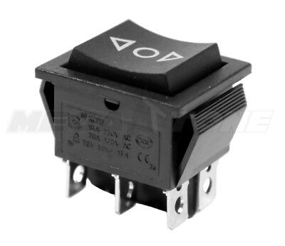 (1 PC) DPDT Momentary (ON)-OFF-(ON) Rocker Switch KCD2 16A/250VAC - USA SELLER!