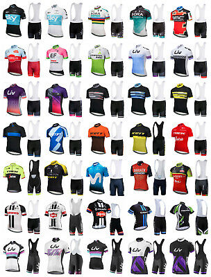2018 Cycling Bike Jersey Bib Shorts Kit Set Team Sky Giant Liv Trek Scott Bora