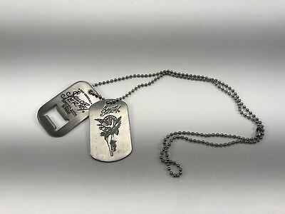 Sailor Jerry Tattoo Stainless Steel Dog & Tag Bottle Opener Necklace NEW