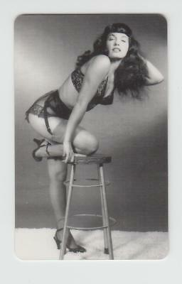 """""""STOCKINGS AND BLACK LACE"""" Signed BETTIE PAGE & BUNNY YEAGER Phone Card BETTY NM"""