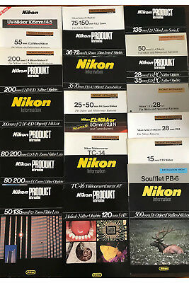 Nikon data sheet collection / Nikkor lenses