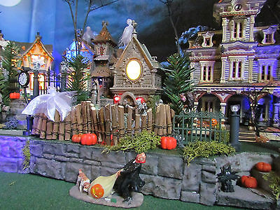 "Multi Level HALLOWEEN Village DISPLAY platform base 28"" or42x12"" Dept 56 Mansion"