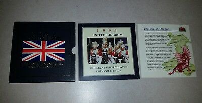 1995 United Kingdom Brilliant Uncirculated Coin Collection £2 Coin