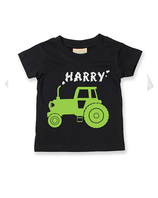 BIG FARM TRACTOR- Personalised Baby/ Children t-shirt EMAIL NAME