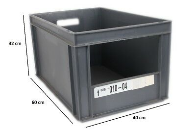 Eurobehälter Eurocontainer Lagerbox Stacking Box Stapelbar Kunststoff 60x40x32cm