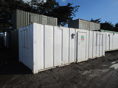 24ft x 9ft SITE CABIN SITE OFFICE PORTABLE BUILDING ANTIVANDAL UNIT £2500 + VAT