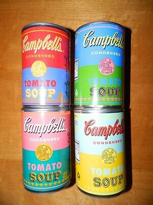 Set of Four CAMPBELLS Tomato Soup ANDY WARHOL TARGET LIMITED ED 50TH ANNIV