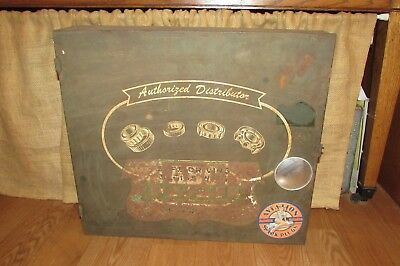 Vintage Authorized American Ball Bearing Co Auto Parts Metal Wall Cabinet  #3021