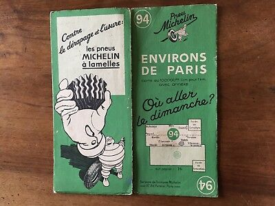 Carte Michelin N°94 Environs de Paris 1937