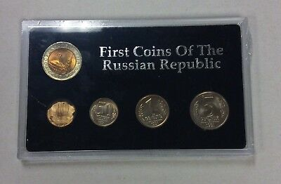 First Coins of the Russian Republic 5 Piece Set