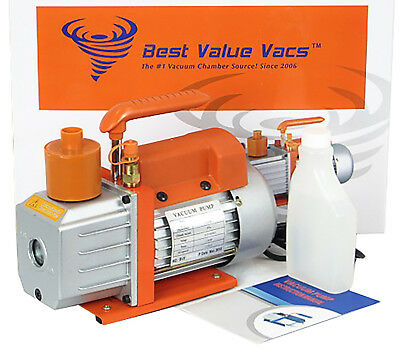 Best Value Vacs 3CFM Single Stage Vacuum Pump- REFURBISHED- FREE SHIPPING