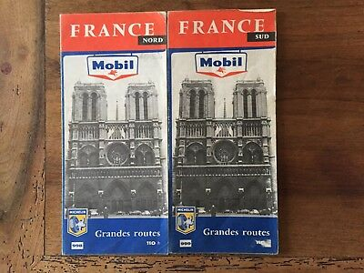 Lot de 2  Cartes Michelin Mobil 998 et 999 1959