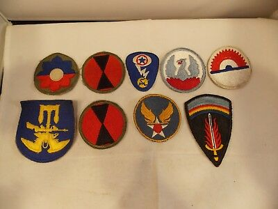Lot of U.S. Military Patches, Including WWII