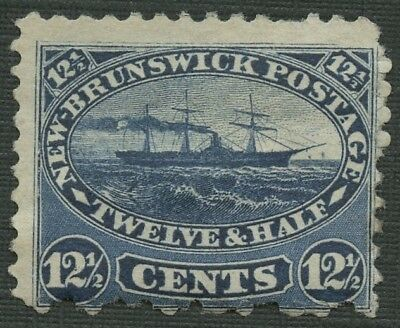 New Brunswick # 9 Mh - Steamship - Vermillion - 12 And A Half Cents -1860