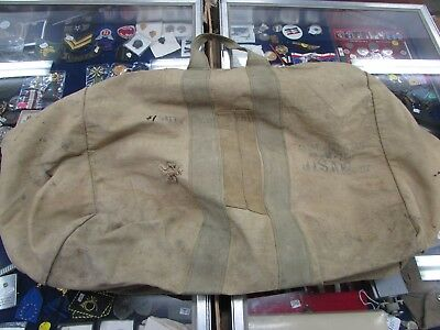 WWII era U.S. Army AC aviator kit bag ID'ed to veteran, basement fresh.
