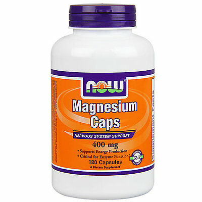 Now Foods Magnesium 400 MG - 180 Capsules