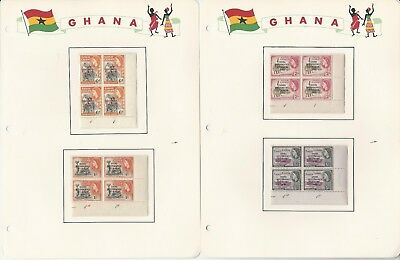 Ghana Collection 1957 on 16 Academy Pages, Mint NH Sets & Blocks #1-20 +