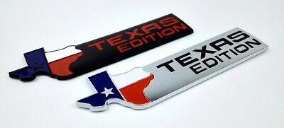 TEXAS EDITION Trunk Auto Tail Emblem Side Wing Badge Car Sticker 3D Chrome