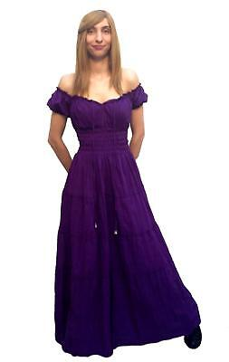 RENAISSANCE DRESS MEDIEVAL BOHO GYPSY PIRATE COSTUME CHEMISE GOWN  #Cd18-PLUS