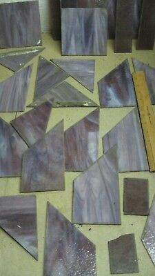 Antique Purple Stained glass 29 Pieces