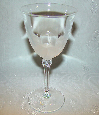 "Signed Cristal d' Arques J G DURAND ""Florence"" 6 3/4"" Crystal Wine Stem Glass"