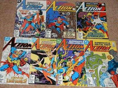 Action Comics run 584, 585, 586, 587, 588, 589, 590 Byrne