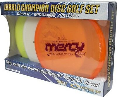 Latitude 64 World Champion Opto Disc Golf Starter Set (Colors and Weights Vary)