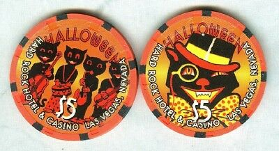 Hard Rock Casino (Las Vegas) (Halloween-2002 ($5) (2) Chips (New) (Tcr 17 Rated