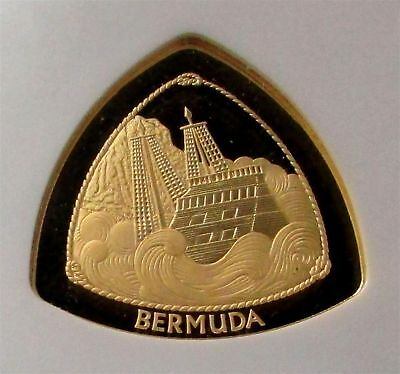 1997 Gold Bermuda $60 Ngc Proof 68 Ultra Cameo Bermuda Triangle 1,500 Minted