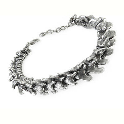 Alchemy Gothic Vertebrae Spine of a Predator Hinged Articulated Pewter Bracelet
