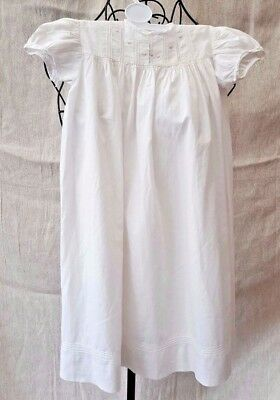 1930 Restcot Trademark London Long White Cotton Baby Christening Gown 3 Years