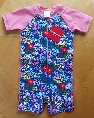 NWT Hanna Andersson Swimmy Rash Guard FLORAL SWIMSUIT  70 6 12 MONTH SOLD OUT!