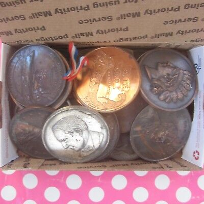 Lot of 24 Souvenir Coins ~ Many States & Locations, Few Lucky Coins, One Foreign