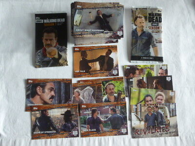 Walking Dead Season 7 Base Card Set + 5 Rust cards + Rivalries set+ 2 wrappers