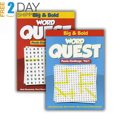 BIG & BOLD - WORD QUEST PUZZLES BOOK > (Case of 48)