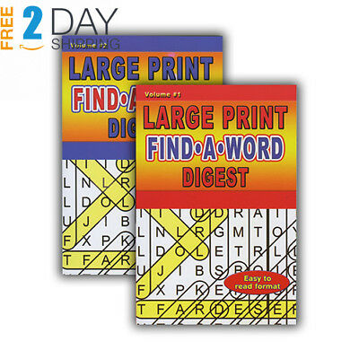 LARGE PRINT FIND-A-WORD PUZZLES BOOK DIGEST SIZE > (Case of 48)