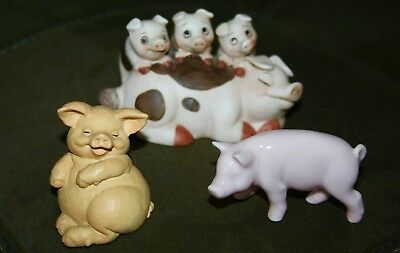 Pigs- George Good-City Of Industry-Figurine-Decor-Russ Berrie-Cute!