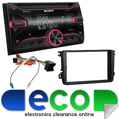 VW Caddy Van SONY Double Din Bluetooth CD MP3 iPhone USB Car Stereo & Fascia Kit