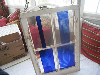 Vintage/shabby  Stained Glass Hanging  Window Unique