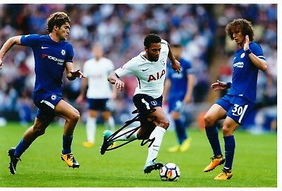 Mousa Dembele Signed 12X8 Photo SPURS Tottenham Hotspur AFTAL COA (9089)