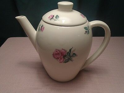 Edwin M Knowles China Rose and Leaf Coffee Pot Tea Pot 1952  RARE