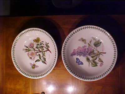 PORTMEIRION  Lot of 2 Flat Soups, Botanic Garden, Made in Britain; New,Unused