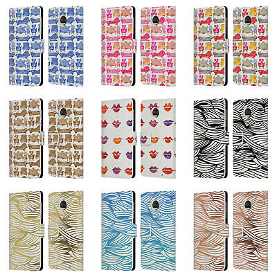Official Cat Coquillette Patterns 2 Leather Book Wallet Case For Motorola Phones