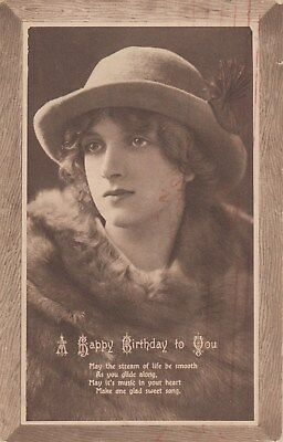 Vintage Birthday Postcard, Early 1900's, (o), Postage Combined