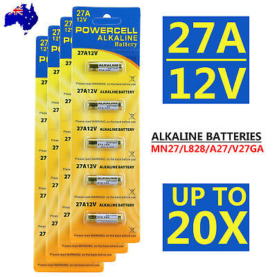 Up To 20x OZ 27A 12V MN27 LR27 A27 Alkaline Battery Garage Car Remote Alarm L828