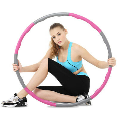 Detachable Weighted Hula Hoop Foam Padded Body Massage ABS Workout Fitness 1KG