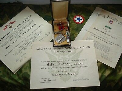 Eto Theater  Bronze Star Group ,dog Tags .documents & More (Intelligence Div)