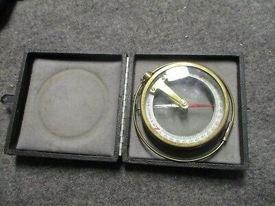 Antique W.S. Darley & Co Chicago U.S.A. dip needle Compass w. case Mining