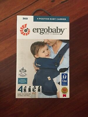 NEW! Ergobaby 360 Cool Air 4 Position Carrier | RRP $280 | FREE EXPRESS POSTAGE!