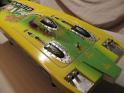 """RC BOAT-33"""" Miss GEICO  fiberglass  Boat Hull only"""